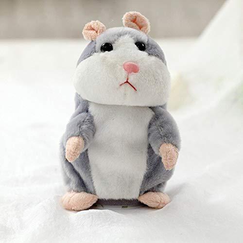MINX Promoción de Dropshipping de 15 cm Adorable hámster parlante Hablando grabación de Sonido Repite Animal de Peluche Kawaii Hamster Juguetes Gris