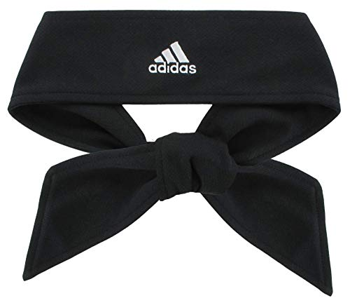 adidas Unisex Tennis Tie II Hairband, Black/White, ONE SIZE