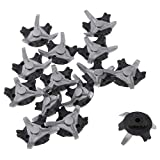 None-Brand Golf Spikes Replacement Golf Shoe Spikes Tooth Golf Shoe Cleats Replacements Golf Spikes Easy Install Golf Shoes (Gray)
