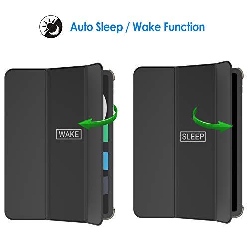 JETech Hülle Kompatibel mit iPad Air 4. Generation 2020 10,9 Zoll, Intelligent Schutzhülle mit Auto Schlafen/Wachen, Schwarz