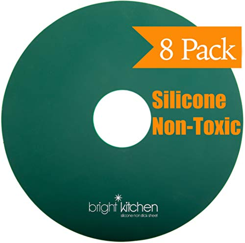8 Silikon-Dörratorblätter, ungiftig, für Nesco runde Dörratoren, Obst, Leder, wiederverwendbar, flexibel, antihaftbeschichtet, 8 flache Blätter