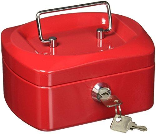 Silverline DC-C6R Caja de Efectivo, color Rojo, 6'