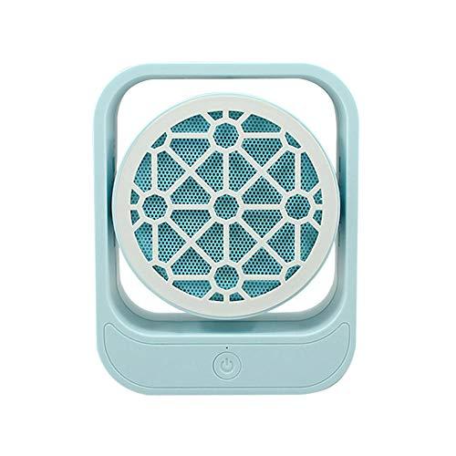 Yuan Dun'er Radiadores electricos bajo Consumo Aceite,Sacudiendo la Cabeza Mini Calentador hogar Ahorro de energía silencioso Oficina hogar Dormitorio Mini Escritorio Calentador-Rejilla Azul Cielo