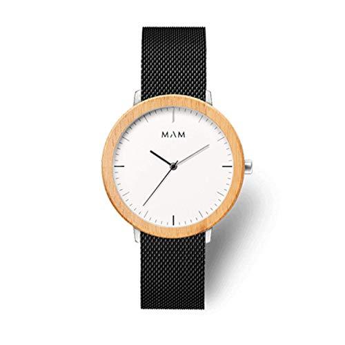 Reloj MAM FERRA 687, para Hombre de Madera de Bambú Natural FSC, Color Negro y marrón