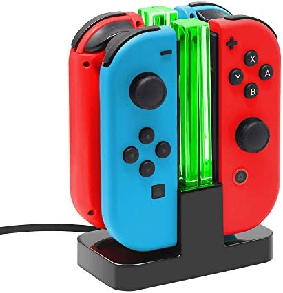Joy Con Charging Dock for Nintendo Switch by TalkWorks Docking Station Charges up to 4 Joy Con product image