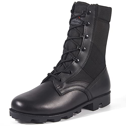 WIDEWAY Men's Tactical Army Boots 8 Inches Lightweight...