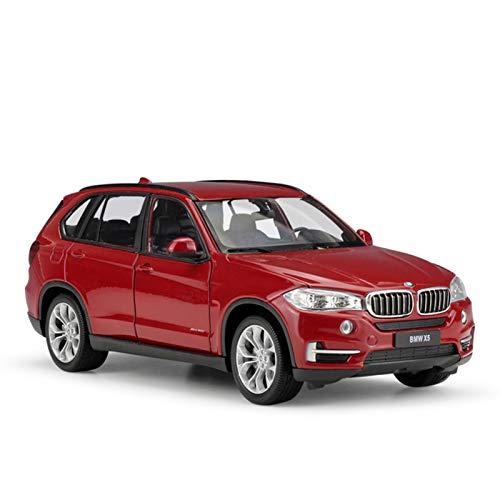 Coche De Juguete Fundido A Escala 1:24 para BMW X5, Modelo De Simulación, SUV Clásico, Coche De Juguete De Aleación De Metal para Colección De Regalos para Niños Colección (Color : Rojo, Size : B)