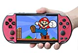 Handheld Game Console, Built-in Free 1000 Games 8GB 4.3'' TFT Screen Media Player with Camera Support TV Output, Portable Rechargeable Game Console for GBA/GBC/SFC Games, Present for Kids and Adult