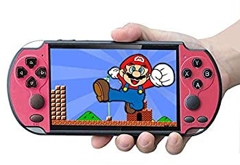 Handheld Game Console Built-in Free 1000 Games 8GB 4.3'' TFT Screen Media Player with Camera Support TV Output Portable Rechargeable Game Console for GBA/GBC/SFC Games Present for Kids and Adult