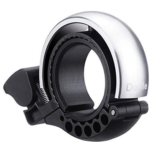 Dorlle Timbre para bicicleta de aleación de aluminio con diseño en forma de Q El sonido es claro y muy ruidoso.