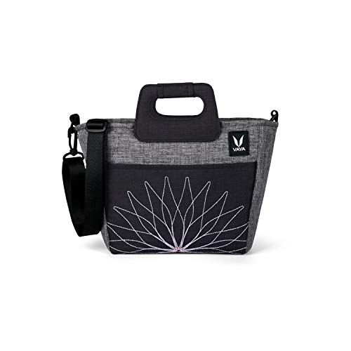 Vaya BentoBag Mini Insulated Lunch Bag for Women, Multipurpose Waterproof Lunch Bag with Adjustable Strap, Color: Pepper Grey