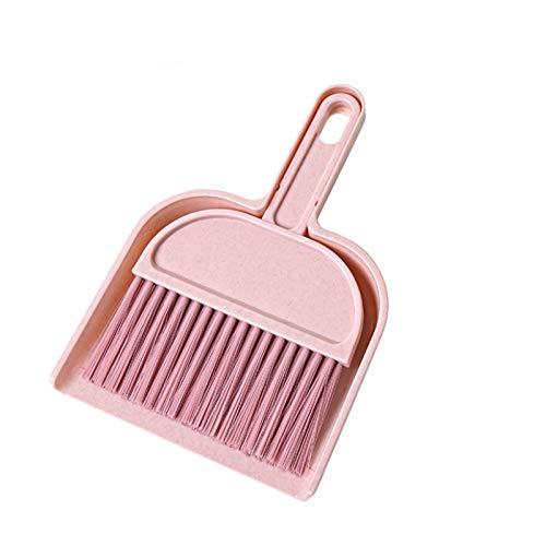 YLiansong-home Juego de Recogedor y Cepillo Hogar Mini Dustpan Broom Desktop Small Broom Creative Limpieza Herramienta para Casa (Color : Pink, Size : One Size)