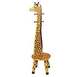 Un tabouret enfant porte-manteaux girafe, original non ?