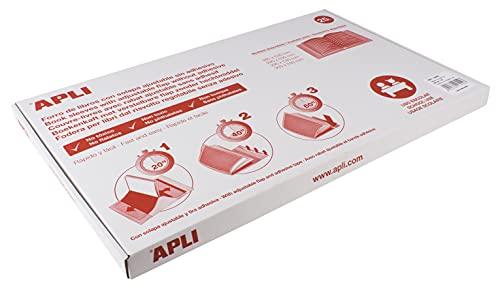APLI - 16909 - Forro de libros- Forralibro con solapa ajustable - PVC - para libros de 285 mm de alto- Caja de 25 unidades
