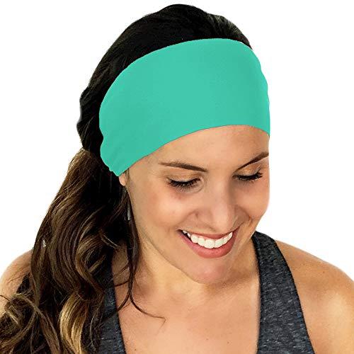 Dicomi Haarband Damen Sommer Erwachsene Strertchy Stirnband Retro Hasenohren Bogen Haarband Haarschmuck Zubehör Grün