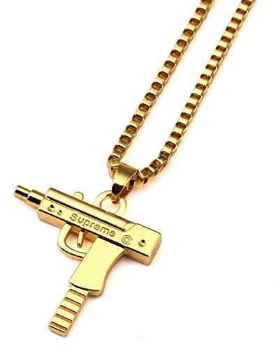 Always toomly Hip Hop-art-lega grande Supreme Gun ciondolo collana