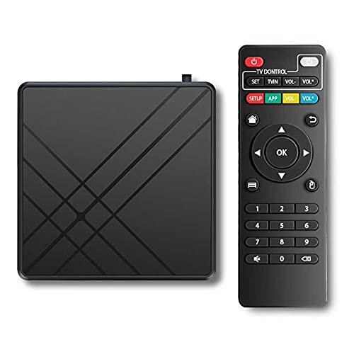 DABENXIANG Decodificador de Red MQ + S, Smart AMLOGIC TV Box 4K HD Player, Quad-Core Cortex-A53 Android 9.0 TV Box, 2 Puertos USB, Soporte 2.4 GHz