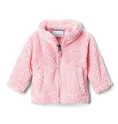 Columbia Baby Infant Girls Fire Side Sherpa Full Zip, Pink Orchid, 6/12 Months