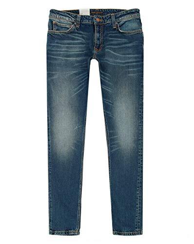 Nudie Jeans Skinny Lin Tight Fit Jeans 34R Koud Blauw