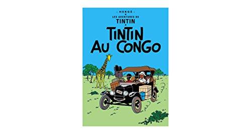 Póster Moulinsart álbum de Tintín: Tintín en el Congo 22010 (70x50cm)