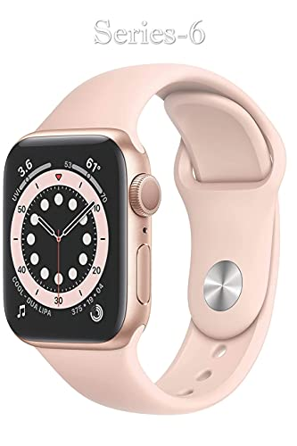 Series-6: GPS + Cellular, 40mm - Gold Aluminum Case with Pink Sand Sport Band