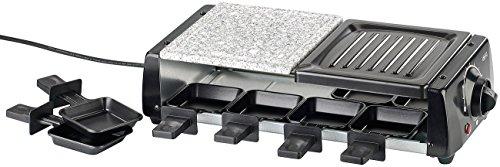 Rosenstein & Söhne Raclette Öfen: Raclette RCL-120 für 8, mit Grill und heißem Stein, 1.200 Watt (Tischgrill für Raclette)
