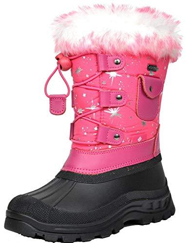 DREAM PAIRS Little Kid Ksnow Fuchsia Isulated Waterproof Snow Boots - 13 M US Little Kid