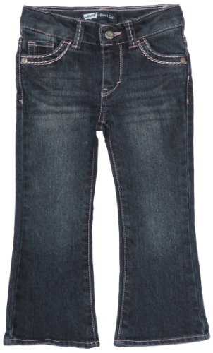 Levi's Girls' Big 715 Bootcut Thick Stitch Jeans, Blue Wonder, 10