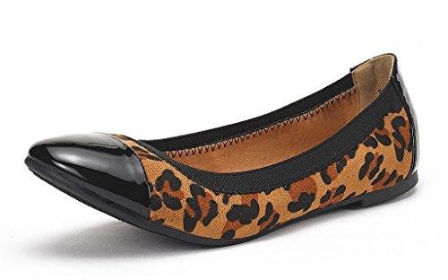 Dream Pairs Sole-Flex Bailarina para Mujer Leopardo 41 EU/10 US