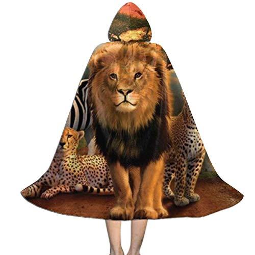 ZQHRS Capa del Chal con Capucha para nios del Reino de frica Envuelta en Halloween, Disfraces, Juegos de Roles, etc. Talla L