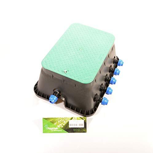 Ventilbox ECO - 5 x Hunter PGV-100 MMB Magnetventil (5 Zonen), mit (3/4