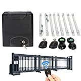 Z ZELUS Kit Automazione Cancello Scorrevole Motore Elettrico per Cancello Scorrevole (200 W)