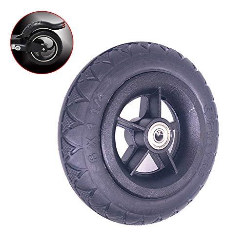 LXHJZ Neumáticos para Scooter Movilidad, neumáticos sólidos a Prueba explosiones 6 Pulgadas, neumáticos Antideslizantes Resistentes al Desgaste 6X1 1/4, Ruedas aleación Aluminio