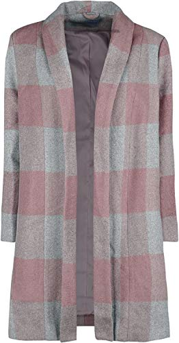 Banned Retro The Classic Coat Mujer Abrigos gris/rosa S, 70% poliester, 30% lana,