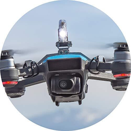 Roboterwerk Selfie Spark, Faro a LED per DJI Mavic Spark, Accessori per droni, Luce del Drone, Fino a 45 Lumen, inclinabile