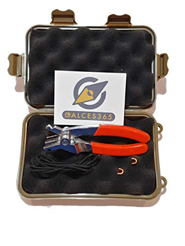 Calces365 Archery D Loop Plier with Case, 2 feet Dloop String, 2 Nock Points, and Decal