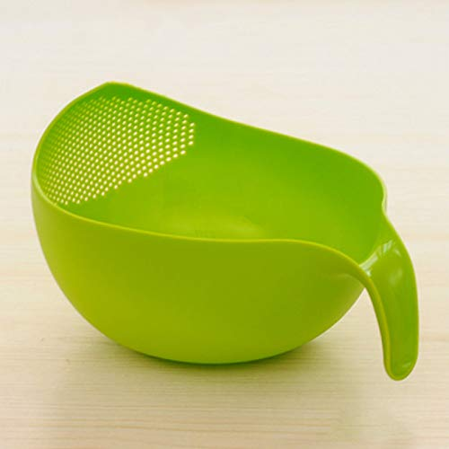 YYZZ Fruit basket,Kitchen Rice Bowl Plastic Fruit Bowl Thick Drain Basket with Handle Washing Basket for Home Kitchen Supplies High Storage Baskets