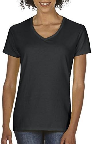 Gildan Women s Plus Size Heavy Cotton V Neck T Shirt 2 Pack Black 3X Large product image