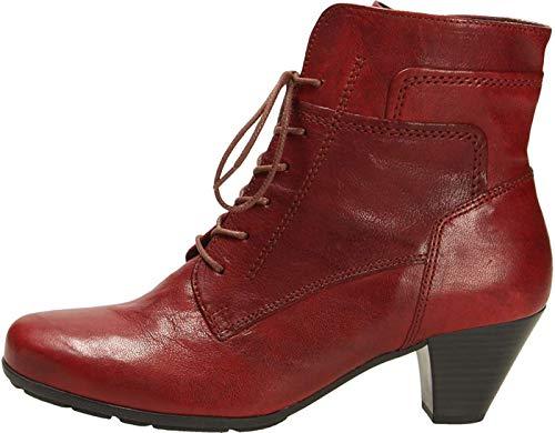 Gabor 75.644-55 Damen Stiefelette aus hochwertiges Glattleder dezente Ziernähte, Groesse 38 1/2, rot