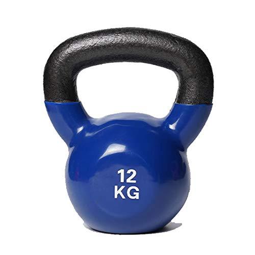 WYZQ Vinylbeschichtete Kettlebells - Gewicht Erhältlich: 2, 4, 8, 10, 12 Kg, Kettlebell-Gewichtssatz Komfortgriff Mit Breitem Griff, Mit Neoprenbeschichtung Um Die Untere Hälfte Von,12kg
