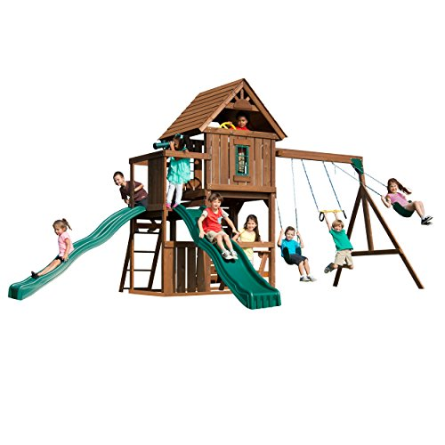 Swing-N-Slide Mont Eagle Play Set with Two Swings,...