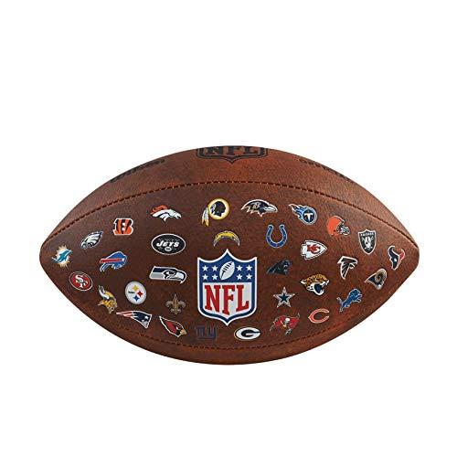 WILSON NFL 32 Team Logo Football Ball (one size, brown)