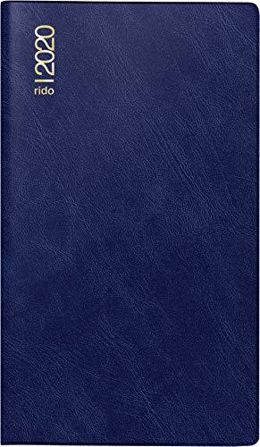 Produktbild rido / idé 704543238 Taschen- / Faltkalender Miniplaner d15 (2 Seiten = 1 Monat,  87 x 153 mm,  Schaumfolien-Einband Catana,  Kalendarium 2020) dunkelblau