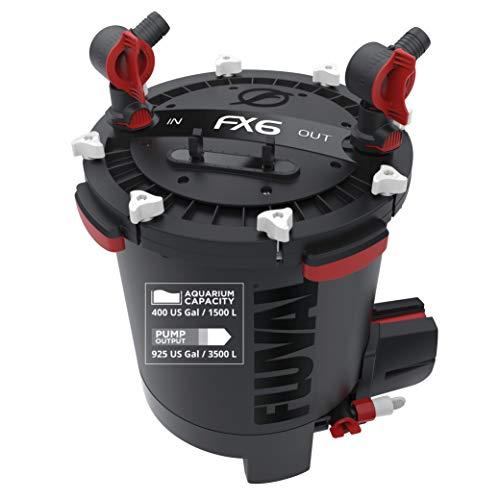 Fluval FX6 Hochleistungsaußenfilter für Aquarien, 1.500 l, schwarz