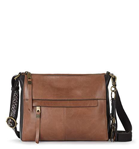 The Sak womens Women's Alameda Leather Crossbody Handbag, Tobacco Snake Multi, One Size US