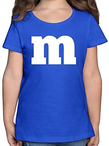 Karneval & Fasching Kinder - Gruppen-Kostüm m Aufdruck - 164 (14/15 Jahre) - Royalblau - Karneval kostüm Gruppe - F131K - Mädchen Kinder T-Shirt