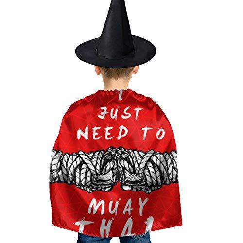 Amoyuan Unisex Kids Kerstmis Halloween Heks Mantel Met Hoed Ik Moet Gewoon Muay Thaise Wizard Cape Fancy Jurk