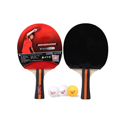 Fantastic Deal! LFLLFLLFL Home Leisure Sport, Portable Table Tennis Rackets Daily Training Outdoor A...