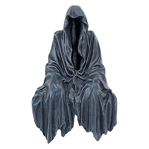 Estatua gótica de la estatua del suspenso sentado trim segador estatua de resina adornos segador estatua regalo decoración manualidades