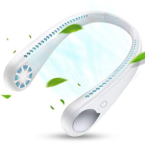 首掛け扇風機「2021年先進版U型ネックファン&快速冷却」DOROU ネックファン 羽なし ネッククーラー 携帯扇風機 ポータブルファン ハンディーファン 1800mAh大容量 USB充電式 長時間連続使用可 完全ハンズフリー ポータブル扇風機 3段階風量調節 軽量 角度調整可 静音 熱中症対策 アウトドア・屋外作業・旅行に最適